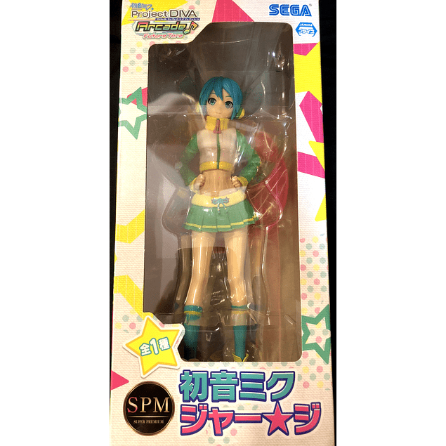 Hatsune Miku -Project DIVA- Arcade Future Tone - Hatsune Miku - SPM Figure - Jer★Sey (SEGA)