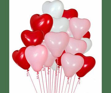 Globo de Latex con helio Corazón