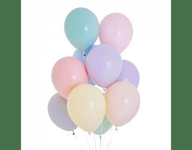 Globos de color pastel - Helio