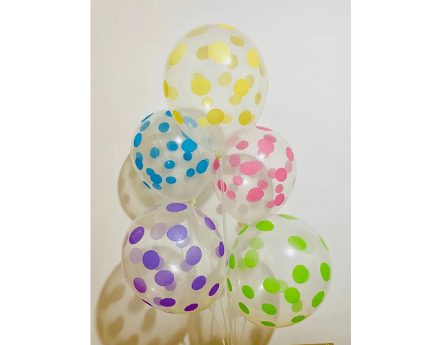 Globos Puntitos Varios Colores