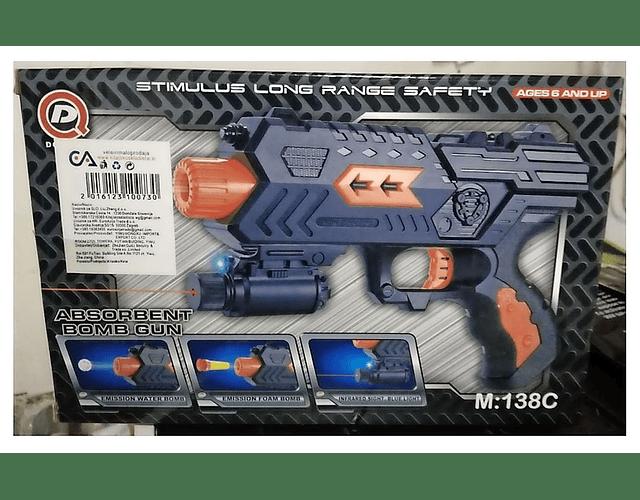 Pistola con Orbitz y Dardos M138C