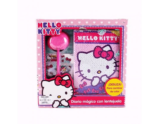 SET DE DIARIO MAGICO HELLO KITTY