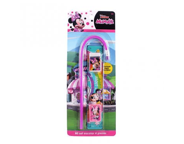 Set Escolar 4pzs Minnie