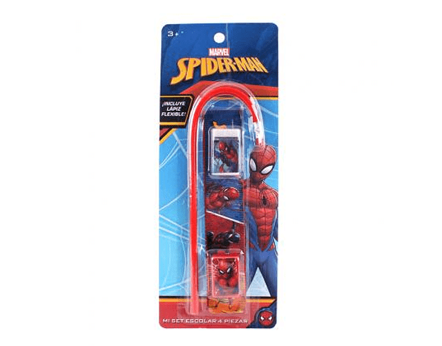 Set Escolar 4pzs Spiderman
