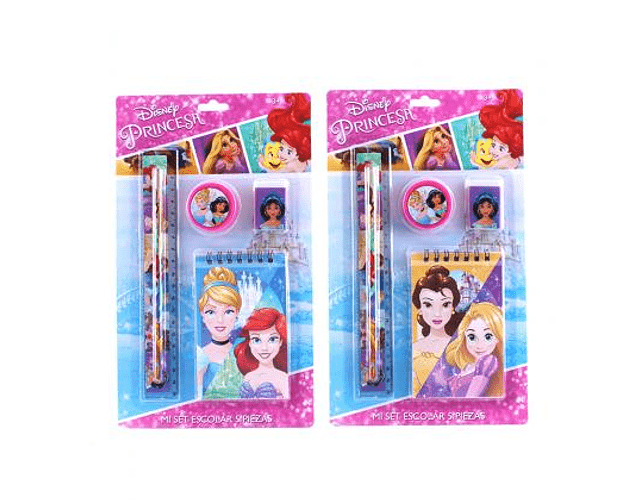 Set Escolar 5pzs Princesas
