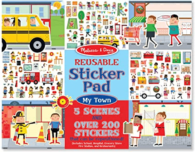 Stickers Reusables- My Town