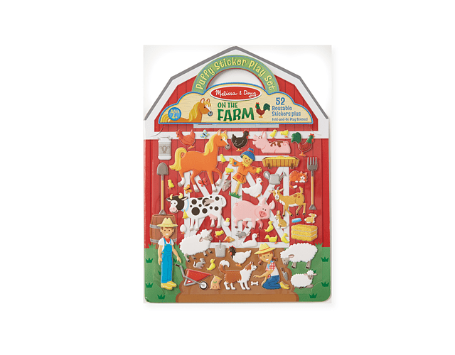 Reusable Puffy Sticker Play Sets- On the Farm