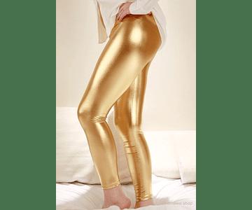 Leggings Metálicos S-M Dorado