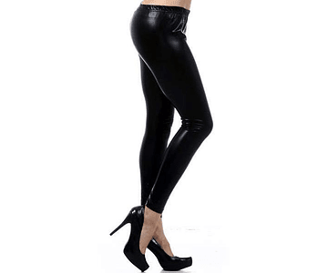 Leggings Metálicos S-M Negro