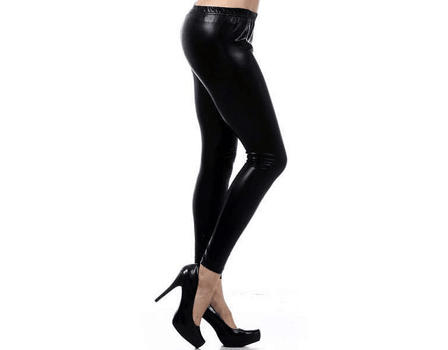 Leggings Metálicos  L-XL Negro