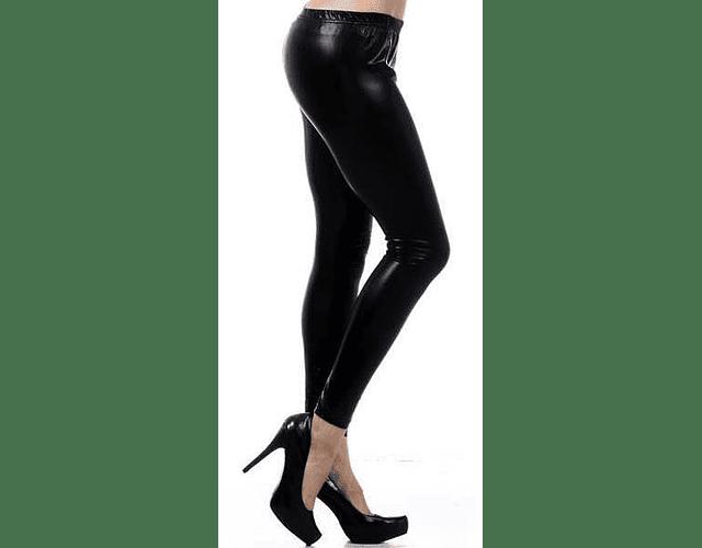 Leggings Metálicos  L-XL Negro
