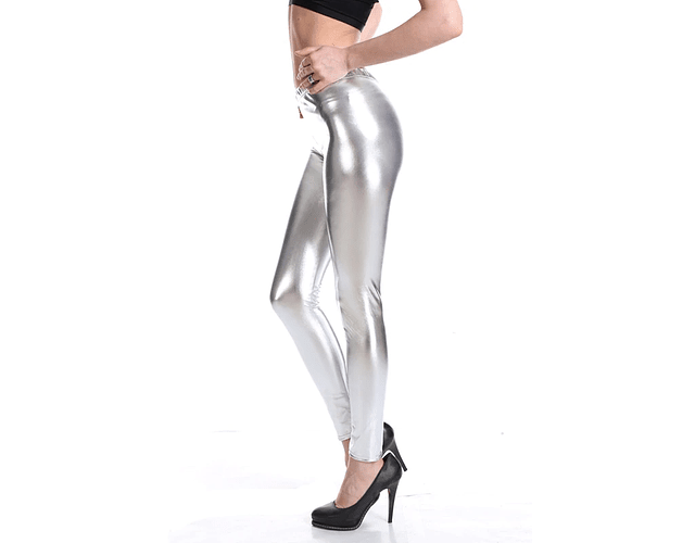 Leggings Metálicos  L-XL Plata