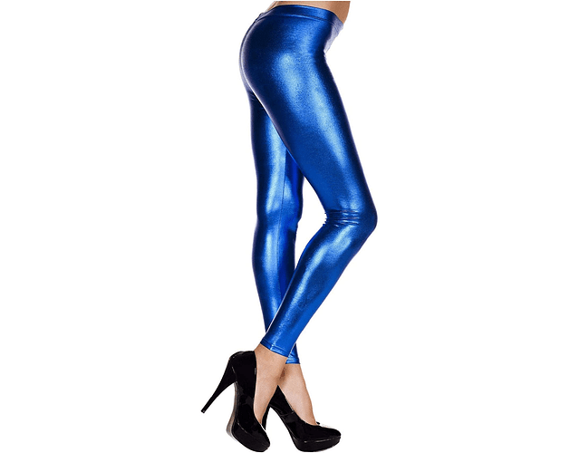 Leggings Metálicos S-M Azul