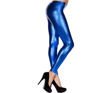 Leggings Metálicos XXL-XXXL Azul