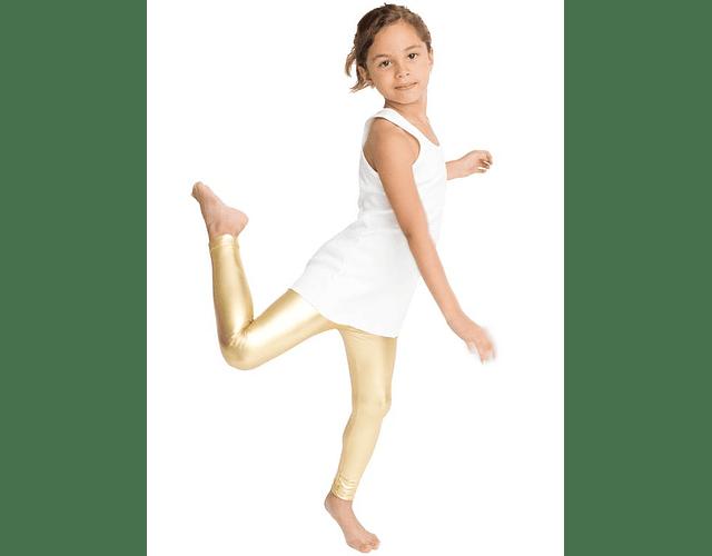 Leggings Metálicos Niña 10-12 Dorado