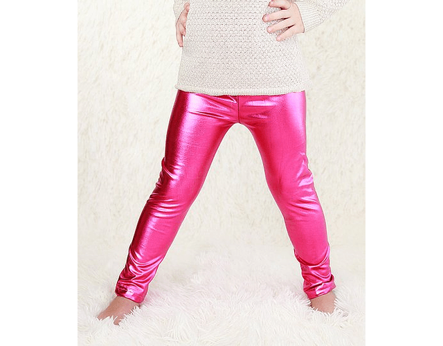 Leggings Metálicos Niña 6-8  Fiusha