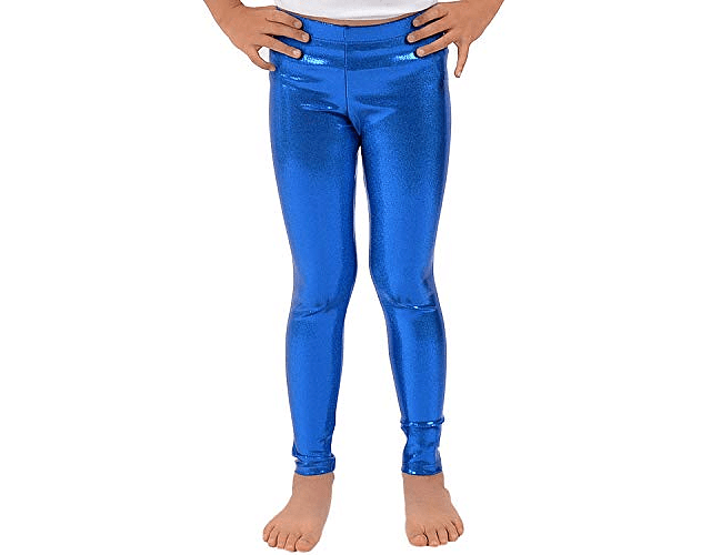 Leggings Metálicos Niña 6-8 Azul