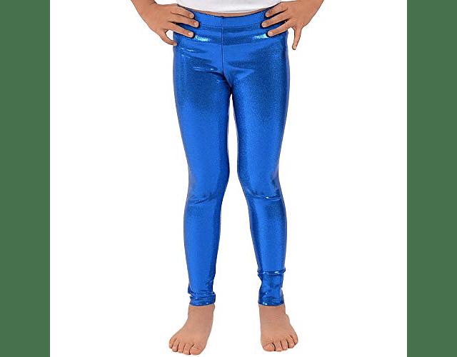Leggings Metálicos Niña 10-12 Azul