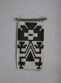 Tapiz Mapuche Verde