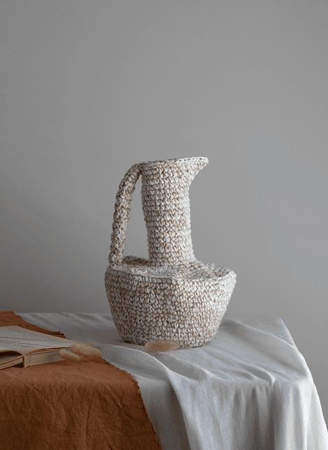Vasija de algodón y yute