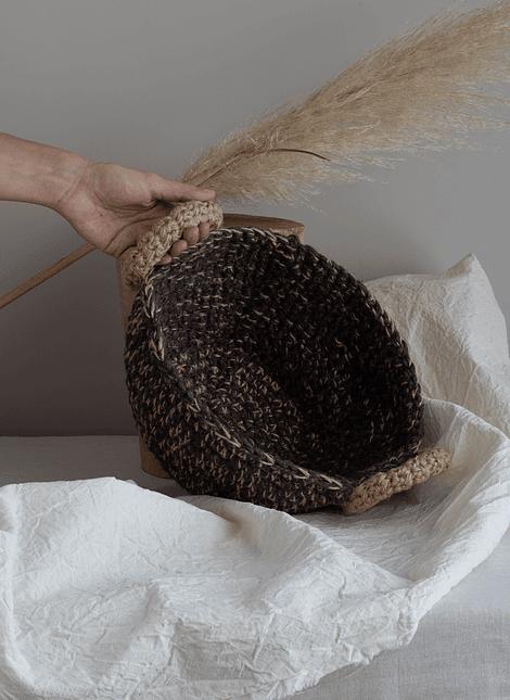 Canasto de algodón y yute