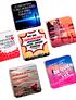 Coasters (Pack 6 Posavasos con Diferentes Diseños - Edición Limitada)