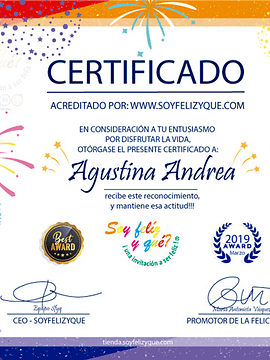 Certificate (Producto Personalizado)