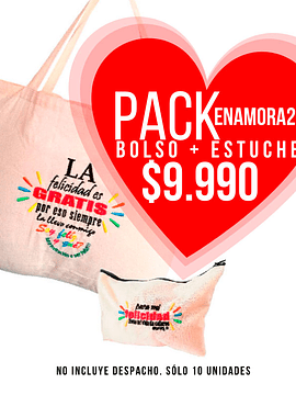 Pack Enamora2 (Bolso Shopper + Estuche Case)