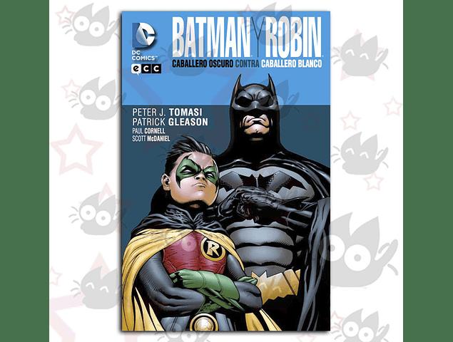 Batman y Robin Caballero Oscuro contra Caballero Blanco