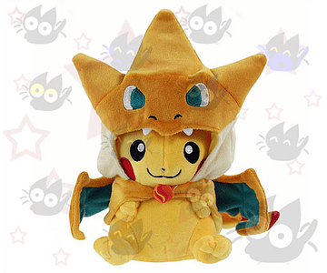 Pokemon - Peluche Pikachu con Capa de Charizard