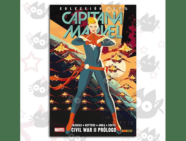 100% Marvel. Capitana Marvel Vol. 5: Civil War II Prólogo