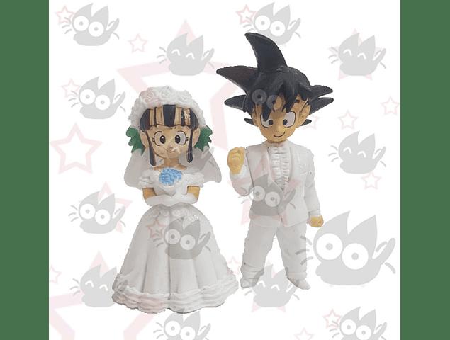 Dragon Ball - Figuras Goku y Milk Matrimonio