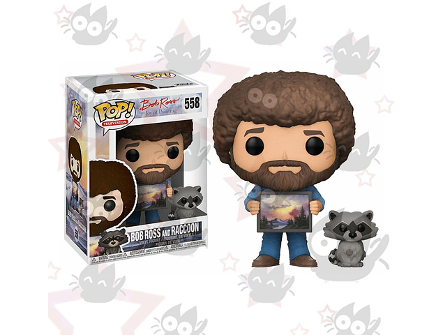 Funko Pop - Bob Ross con Raccon