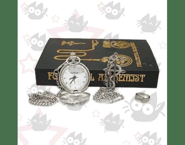 Fullmetal Alchemist - Set Reloj, collar y anillo