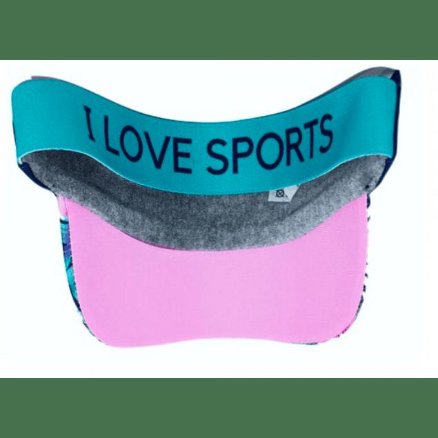 Visera Running Love Sport Blue