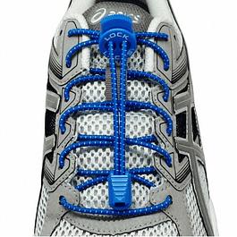 Cordón Elasticado Lock Laces Azul