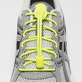 Cordón Elasticado Lock Laces Amarillo
