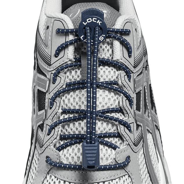 Cordón Elasticado Lock Laces Azul Marino