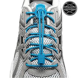 Cordón Elasticado Lock Laces Azul Refractante