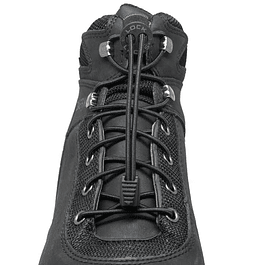 Cordón Elasticado Lock Laces Boot Negro