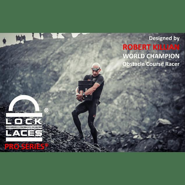 Cordón Elasticado Lock Laces RK Pro Serie Negro