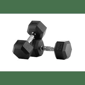 Mancuernas Hexagonales Pro 10 Kg x 2 = 20 Kg