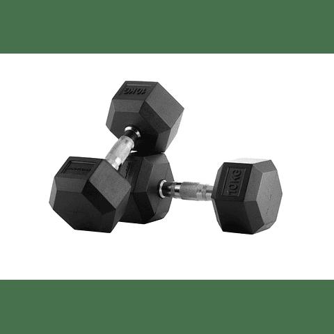 Mancuernas Hexagonales Pro 10 Kg x 2