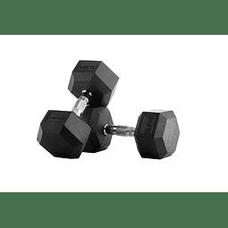 Mancuernas Hexagonales Pro 12,5 Kg x 2 = 25 Kg