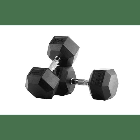 Mancuernas Hexagonales Pro 20 Kg x 2