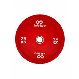 Disco Olímpico Bumper 25 Kg Pro