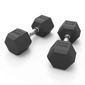 Mancuernas Hexagonales Pro 17,5 Kg x 2 = 35 Kg