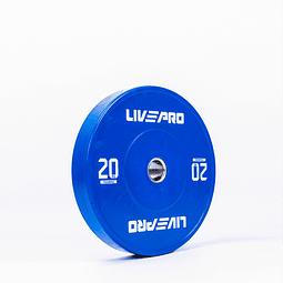Disco Olímpico Bumper 20 Kg Competición