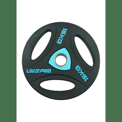 Disco Olímpico con Triple Agarre 15 kg