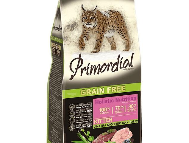 Primordial Grain Free Gatinhos Peru e Pato 2kg
